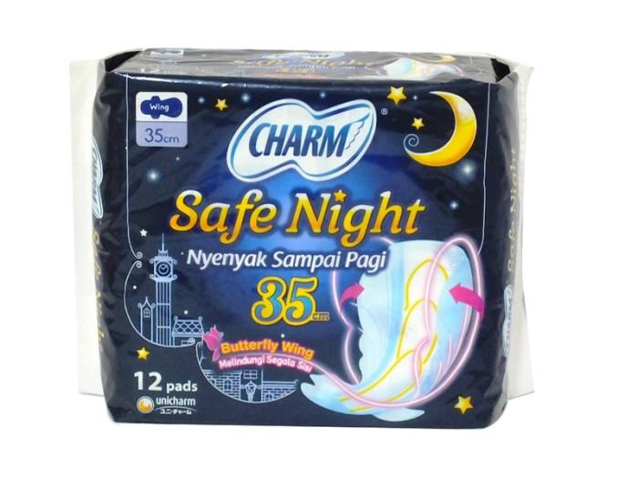 Foto Produk (75501) PEMBALUT WANITA CHARM 35CM 12`S SAFE NIGHT WING dari SWALAYAN MAJU BERSAMA