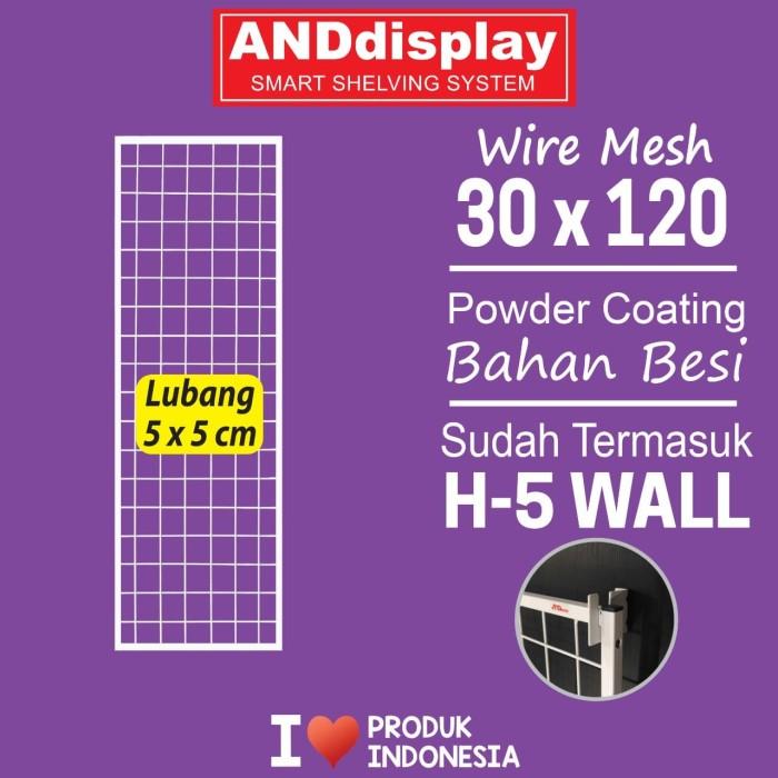 Foto Produk WIREMESH 30X120CM PLUS H-5 WALL RAM DISLPAY CANTOLAN DINDING dari SINAR KARYA RAKINDO