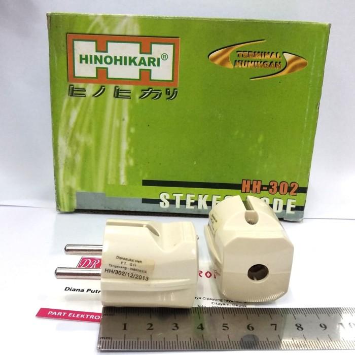Foto Produk Steker Kepala Colokan Bagus Kuningan Hinohikari Besar HH 302 SNI dari DR ELEKTRONIK DEPOK