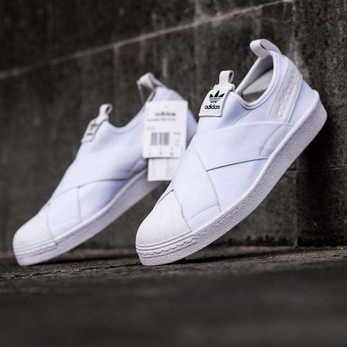 Adidas Superstar Slip On Full White 37