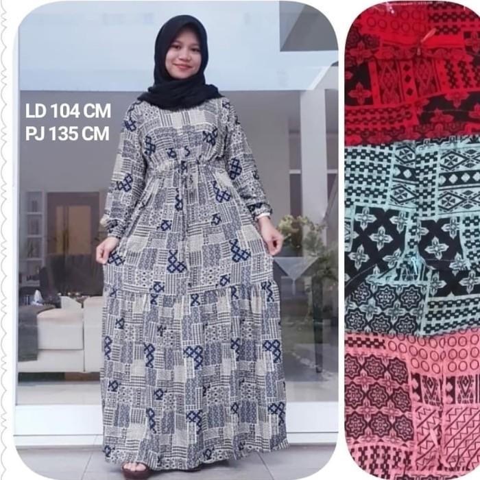 Jual Gamis Katun Rayon Terbaru Dress Wanita Gamis Rayon Terlaris Merah Kota Bandung Salshabila Busana Olshop Tokopedia