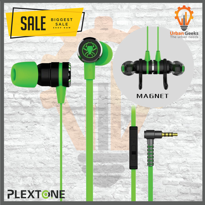 Foto Produk Earphone PLEXTONE G20 In-Ear Gaming Headset Stereo Bass Headphone - Hijau muda dari Urban Geeks