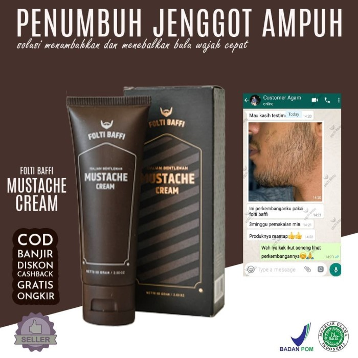 Foto Produk Penumbuh rambut jambang kumis folti baffi dari Green Angelica Herbal