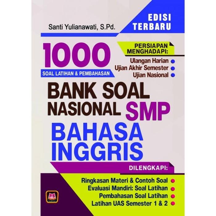 Jual Bank Soal Nasional Smp Bahasa Inggris Jakarta Selatan Pelove Mart Tokopedia