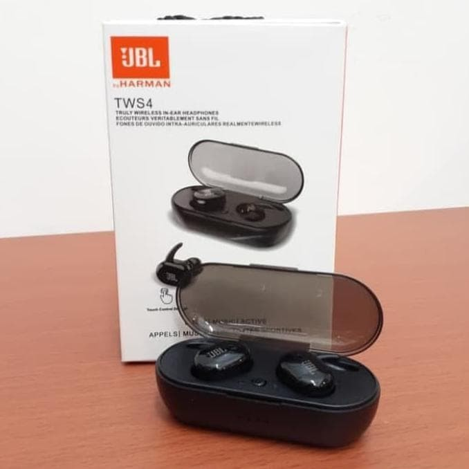 Jual Headset Bluetooth Jbl Tws 4 Wireless Earphone Hadju1 Jakarta Pusat Hadju19955 Tokopedia