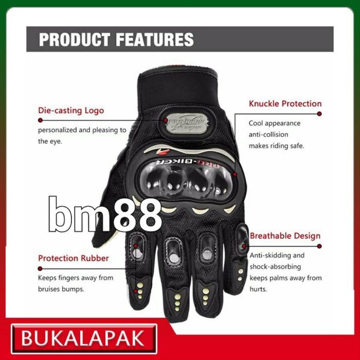 Foto Produk Jual Glove ProBiker MCS 01 Full Finger Pro Biker Sarung Tangan Mo dari yuancollections