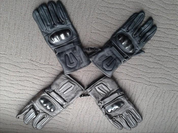 Foto Produk sarung tangan biker panjang kulit dari ekavisstore