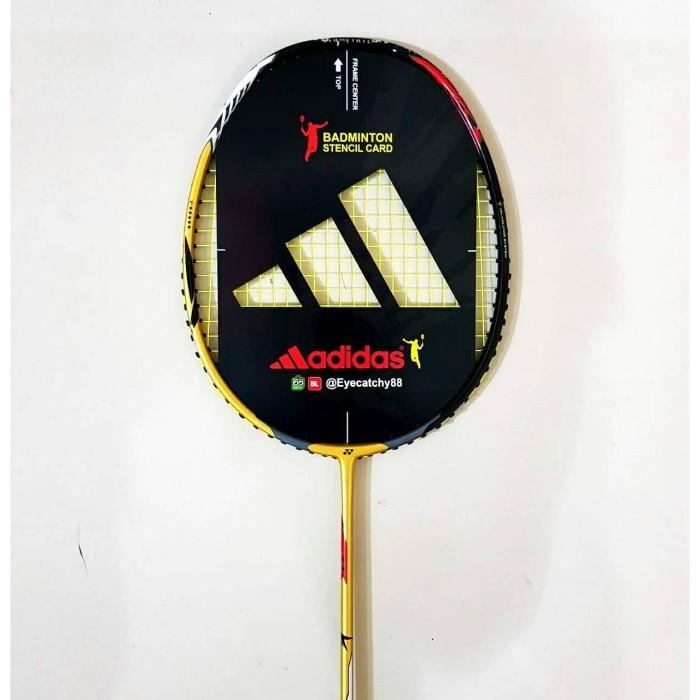Jual Badminton Raket Stencil Card/Logo Raket/ Cetakan