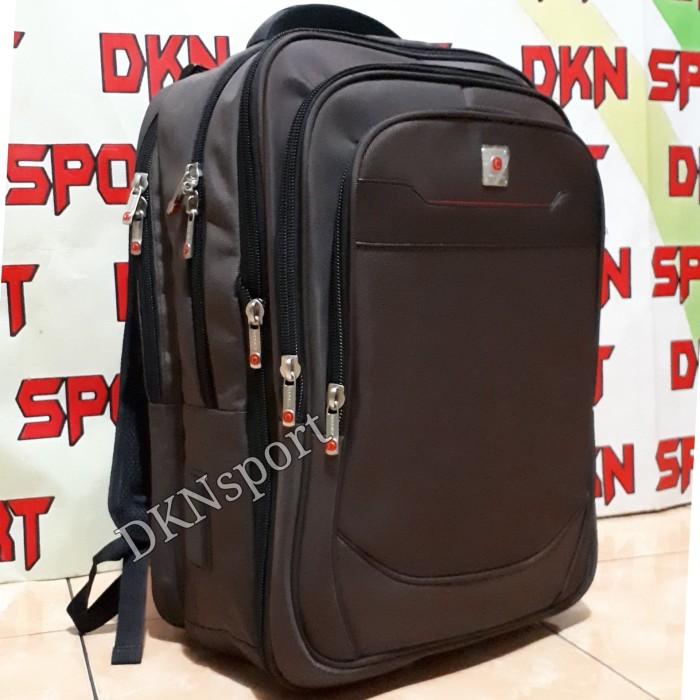 Foto Produk tas ransel laptop polo classic jumbo expanding - Cokelat dari DKNsport-grosir