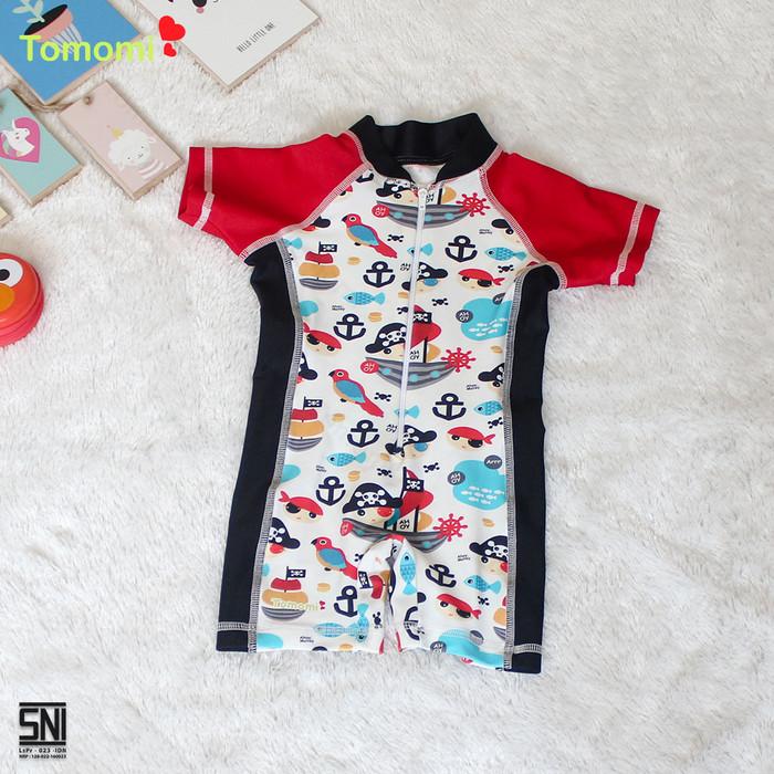 Foto Produk Baju renang Anak Motif Pirates - Merah, 3-6 Bulan dari Tomomi Baby Wear