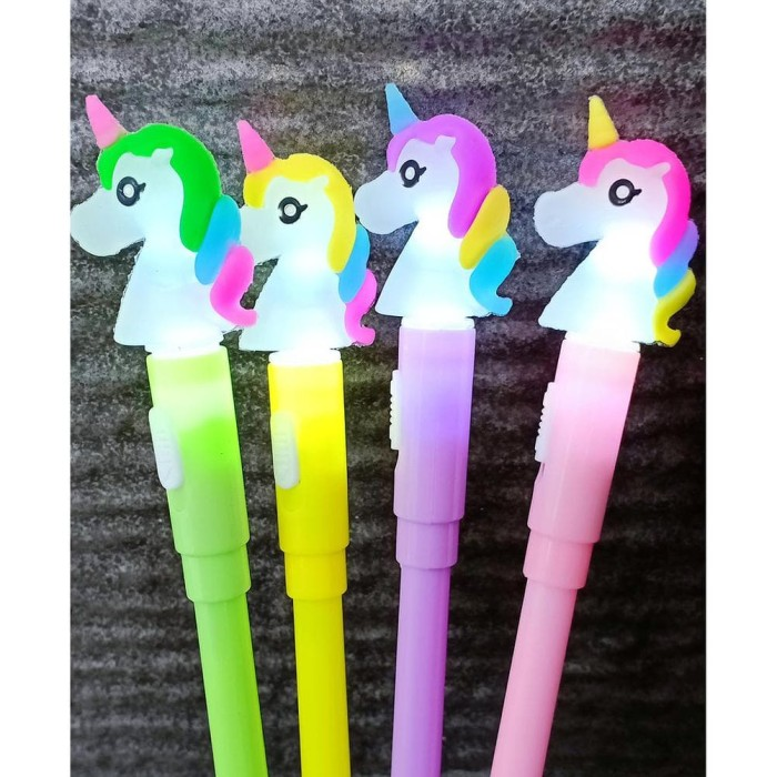 Jual Pen Gel Cute Unicorn Kuda Pony Lampu 8780 Isi 12pcs Jakarta Barat Krsm1 Shop Tokopedia