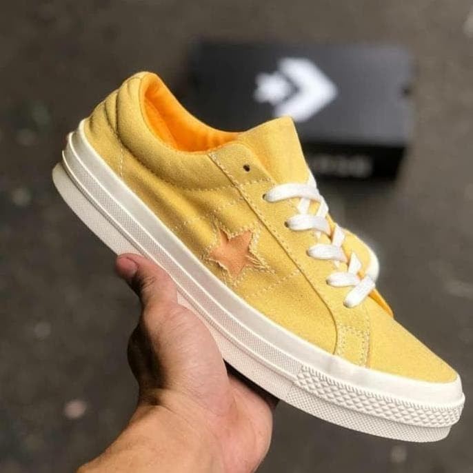 converse one star mustard yellow