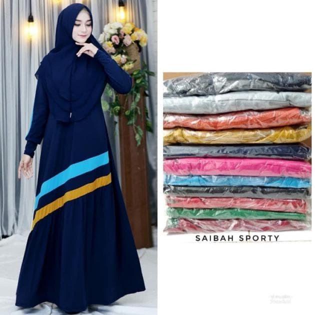 Jual Terlaris Saibah Sporty Gamis Jersey Gamis Murah Busui F5872 Jakarta Selatan Uty Fashion Tokopedia