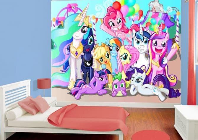 Jual Perawang Wallpaper Dinding Custom Motif Cartoon Little Pony Jakarta Pusat Perawangindah Tokopedia