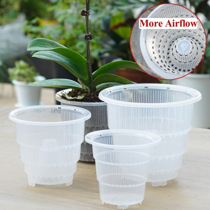 Jual Meshpot 4 5 6 Inches Plastic Clear Orchid Pot With Holesorchid Jakarta Barat Grosir Ike Tokopedia