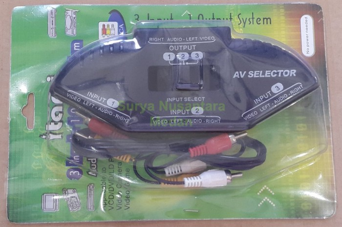 Foto Produk Itami AV / Audio Video Selector / Switching 3 Output dari Irfanjaya8588