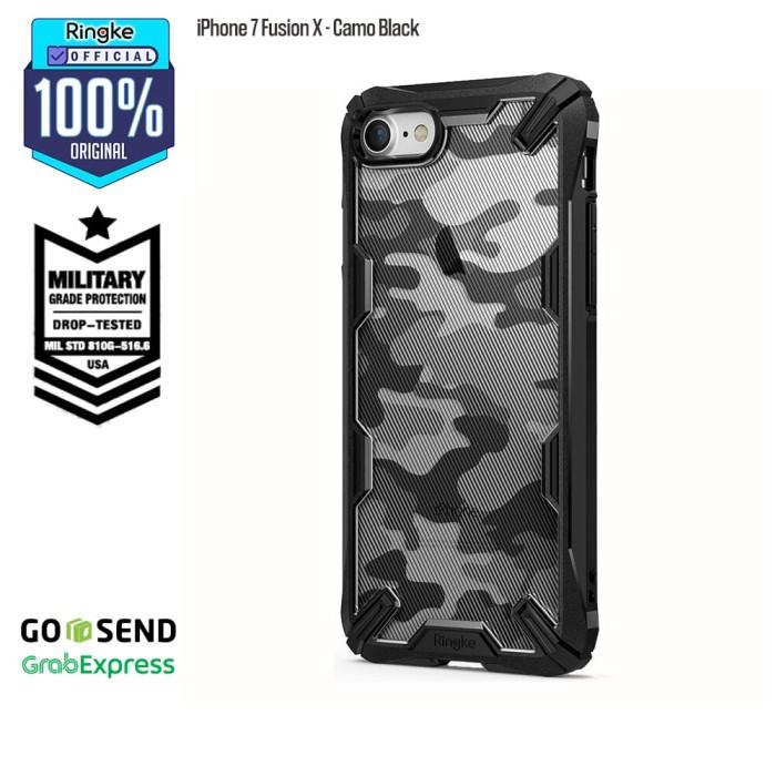 Foto Produk Casing Ringke iPhone 7 Fusion X Camo Black Softcase Military Anti Drop dari Official Ringke Partner