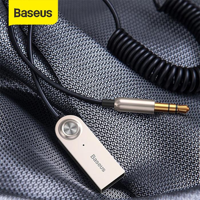 Foto Produk BASEUS BLUETOOTH TRANSMITTER WIRELESS BLUETOOTH RECEIVER ADAPTER - Hitam dari Baseus Official Store
