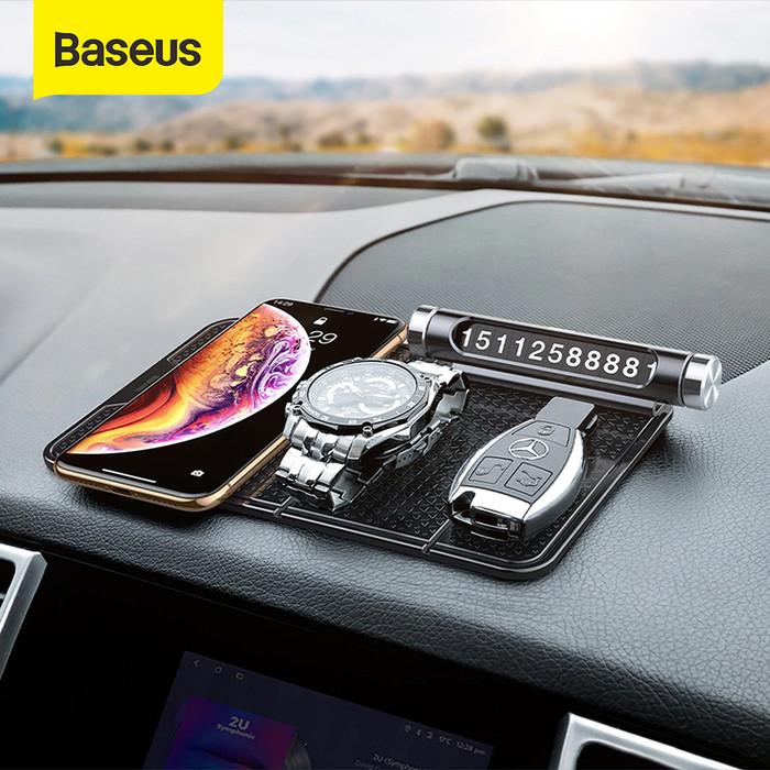 Foto Produk UNIVERSAL CAR HOLDER BASEUS WALL DESK STICKER CAR MOUNT HOLDER STAND - Hitam dari Baseus Official Store