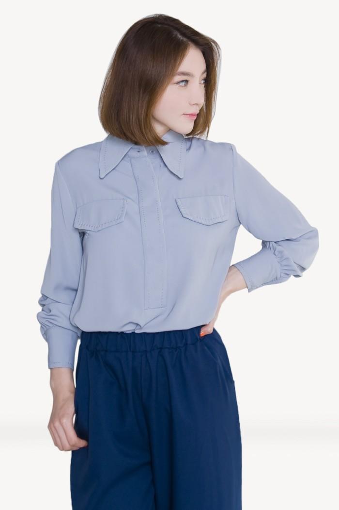 Foto Produk Kakuu Basic - Stitch Point Long Sleeve Shirt dari Kakuu Basic