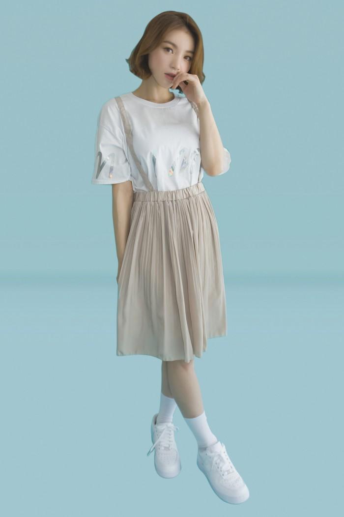 Foto Produk Kakuu Basic - Suspender Pleat Skirt dari Kakuu Basic