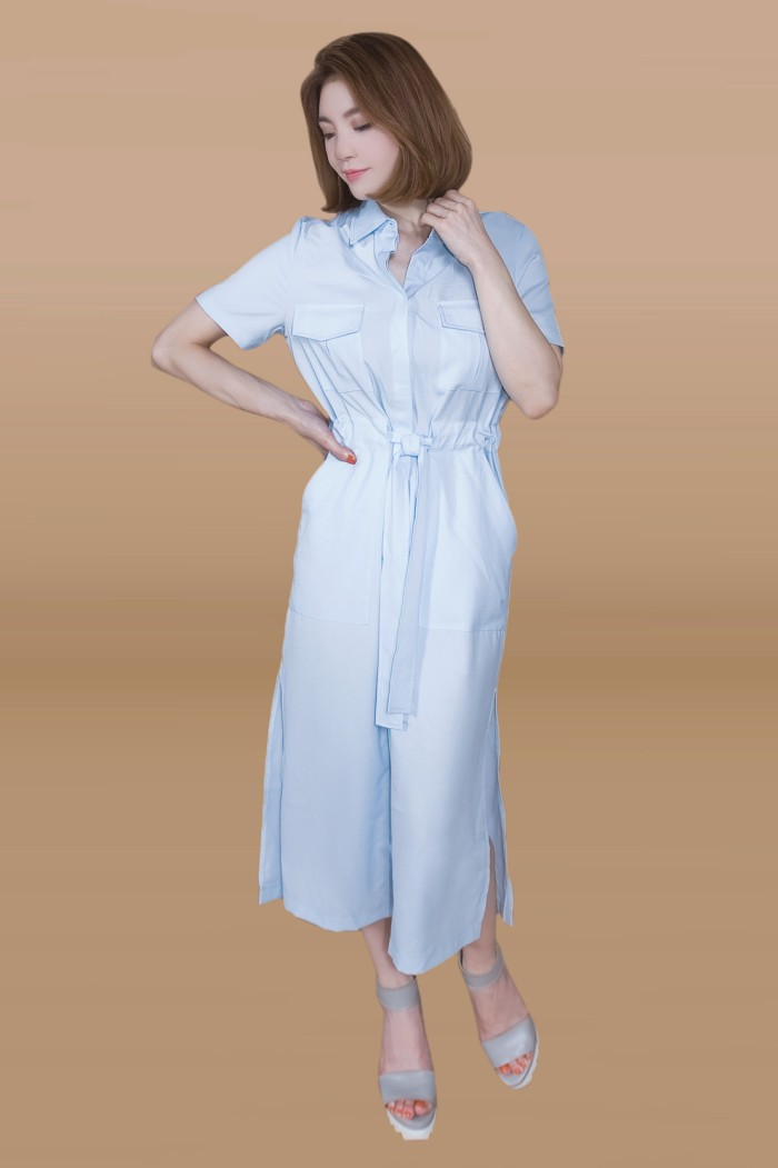 Foto Produk Kakuu Basic - Soft Shirt Dress Maxi dari Kakuu Basic