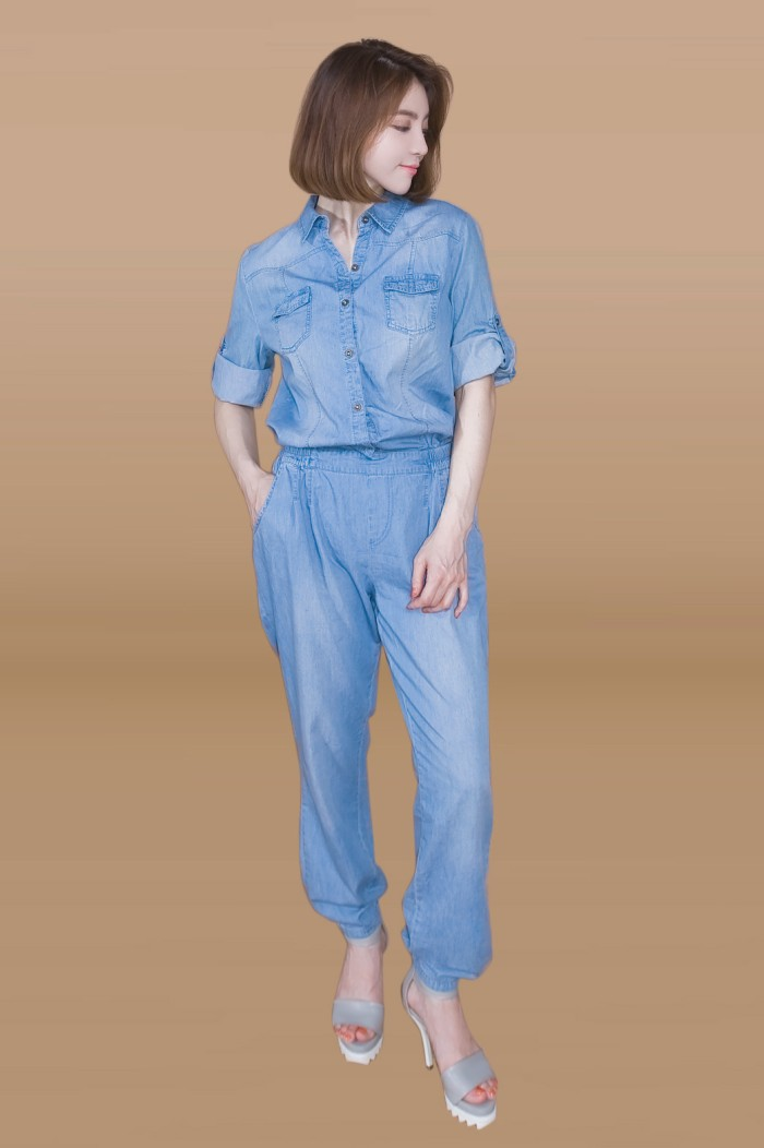 Foto Produk Kakuu Basic - Denim Jumpsuit dari Kakuu Basic