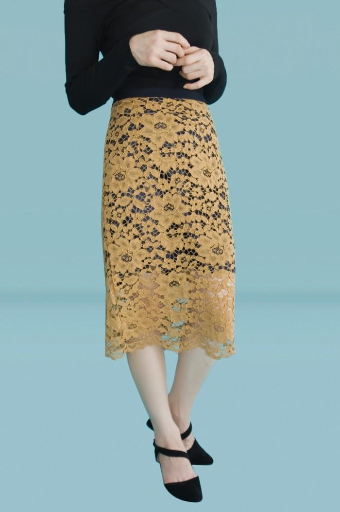 Foto Produk Kakuu Basic - Layered Lace Skirt dari Kakuu Basic