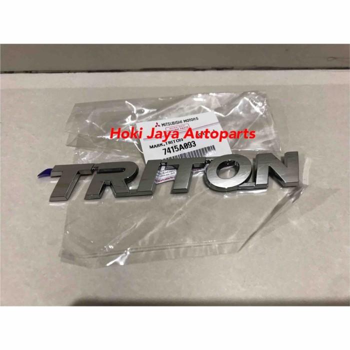 Jual Logo Emblem Triton Asli Mitsubishi Kab Merangin Fattah11 Tokopedia
