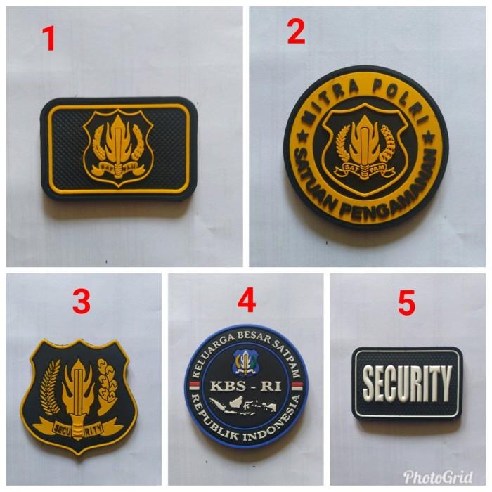 Jual Patch Rubber Security Emblem Satpam Kota Bandar Lampung Bahran11 Tokopedia