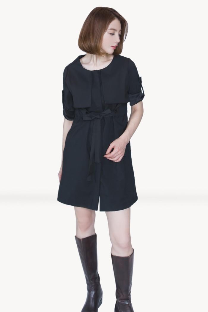 Foto Produk Kakuu Basic - High Waist Flap Mini Dress dari Kakuu Basic