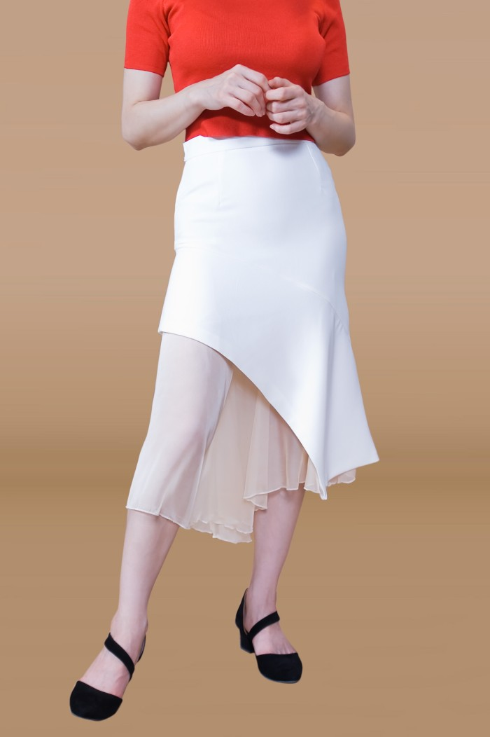 Foto Produk Kakuu Basic - Transparent Layered Trumpet Skirt dari Kakuu Basic