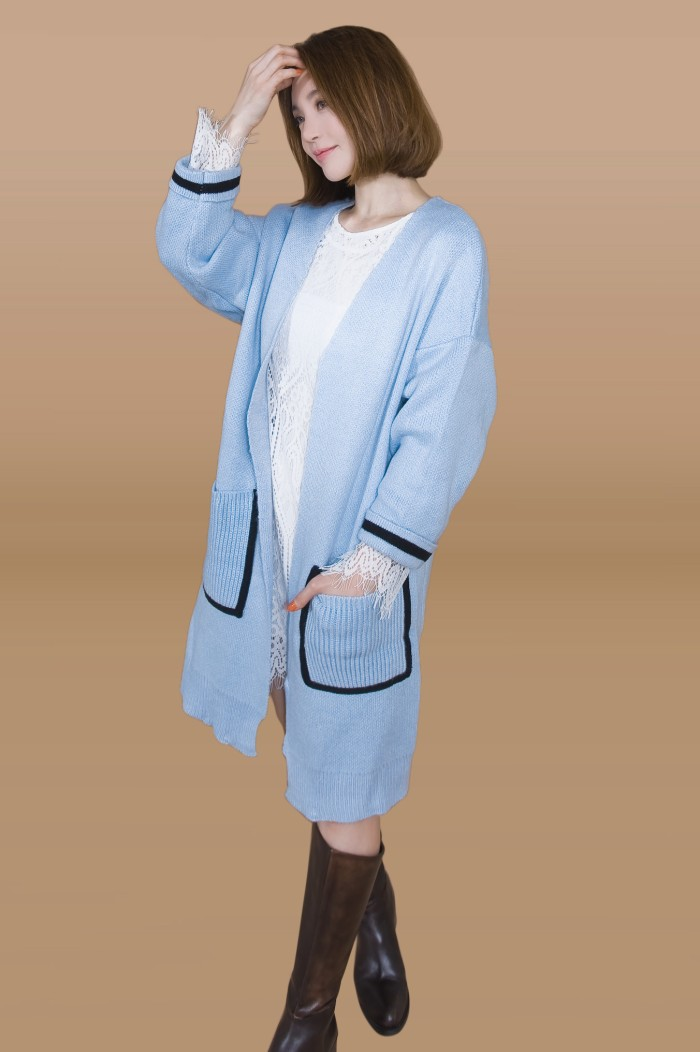 Foto Produk Kakuu Basic - Oversized Knit Long Cardigan dari Kakuu Basic
