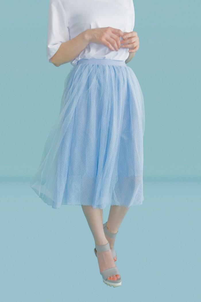 Foto Produk Kakuu Basic - Mesh Flare Skirt dari Kakuu Basic