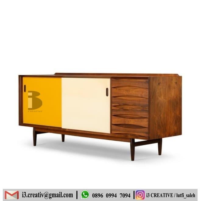 Jual Furniture Sideboard Buffet Danish Sideboard Kab Jepara I3 Creative Tokopedia