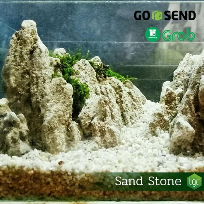 Jual Sand Stone Batu Pasir Batu Hias Aquascape Kota Bandung The Green Cube Tokopedia