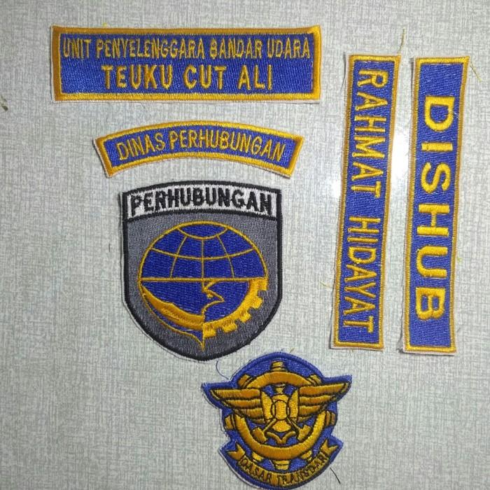 Jual Badge Atribut Dinas Perhubungan Bordir Kab Aceh Selatan Sajan Embroidery Tokopedia