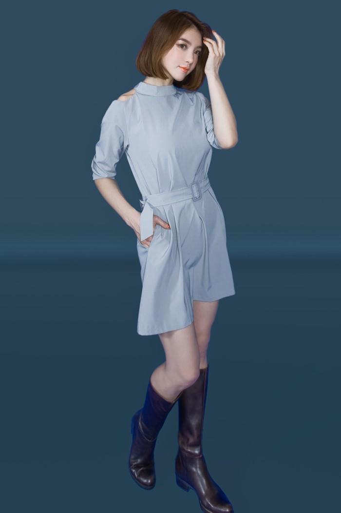 Foto Produk Kakuu Basic - Copy Of Cutout Shoulder Belt Set Dress dari Kakuu Basic