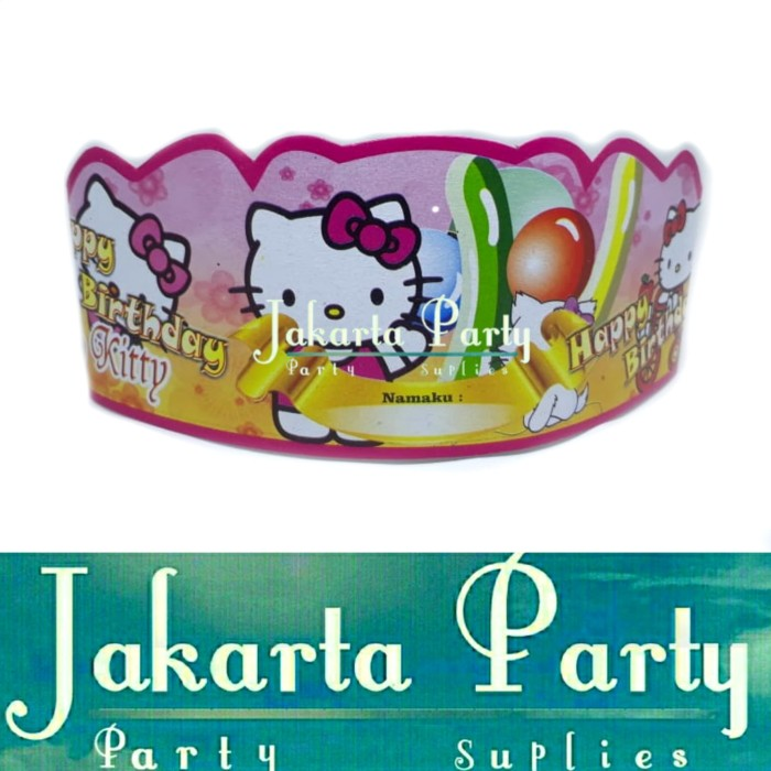 Foto Produk Topi Ultah Hello Kitty #2 / Topi Lingkar Hello Kitty / Topi Ultah dari Jakarta Party