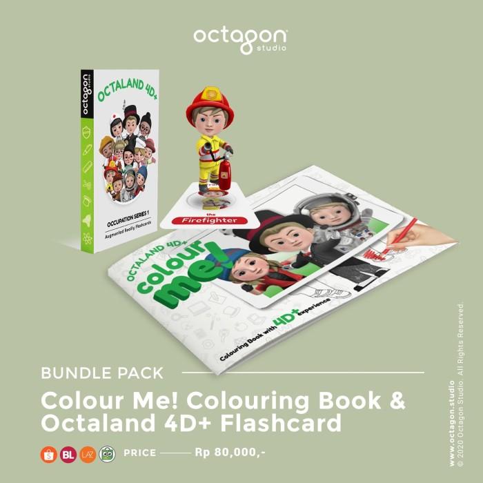 Foto Produk Bundle sale 3 (Color me! Coloring book + Octaland 4D+ Flashcards) dari OctagonStudio