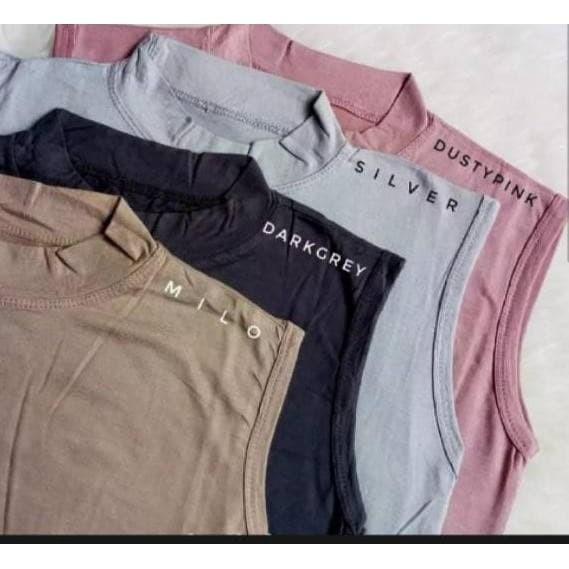 Foto Produk Buntung Polos Warna Size L - XL -XXL Manset tanpa lengan - Putih, XL dari TOKOmalayanto