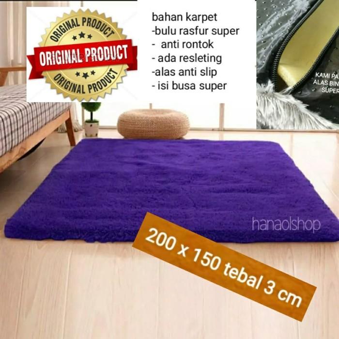 Foto Produk Karpet lantai bulu rasfur150x200x3cm dari BROUMmedia
