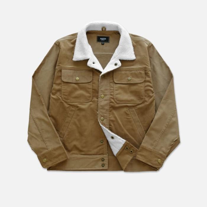 Foto Produk OOTD Corduroy Sherpa Jacket | outerwear pria | Jaket Pria musim dingin - Brown, M dari OOTDSTORE