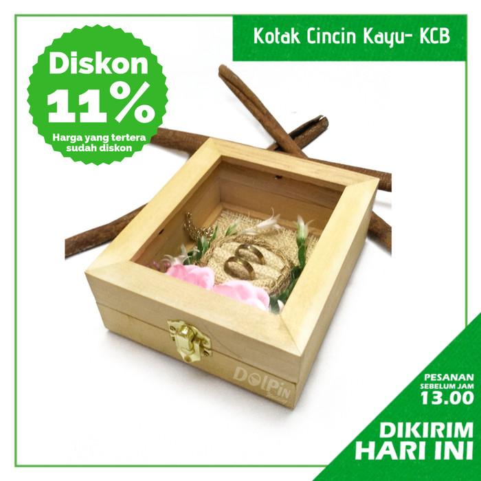 Foto Produk Tempat Cincin Kayu Bunga Kotak Hantaran Seserahan - Ivory dari Kotak Seserahan Dolpin