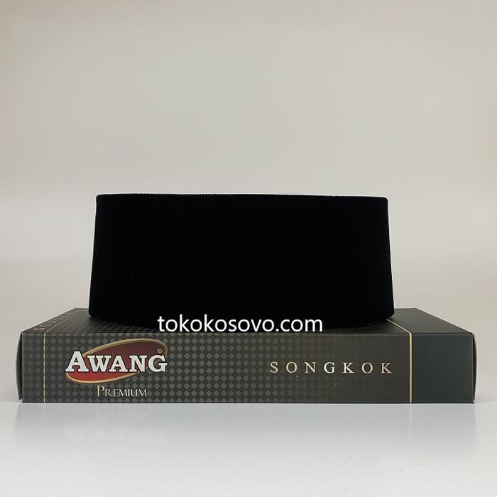 Foto Produk Peci Songkok Kopiah AWANG PREMIUM AC Hitam Polos GROSIR - TINGGI 9, Seri 4-8 dari Toko Kosovo