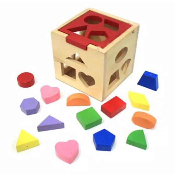 Foto Produk Mainan Edukasi Kotak Puzzle Shape bentuk - Mainan Puzzle Anak dari ciustoys