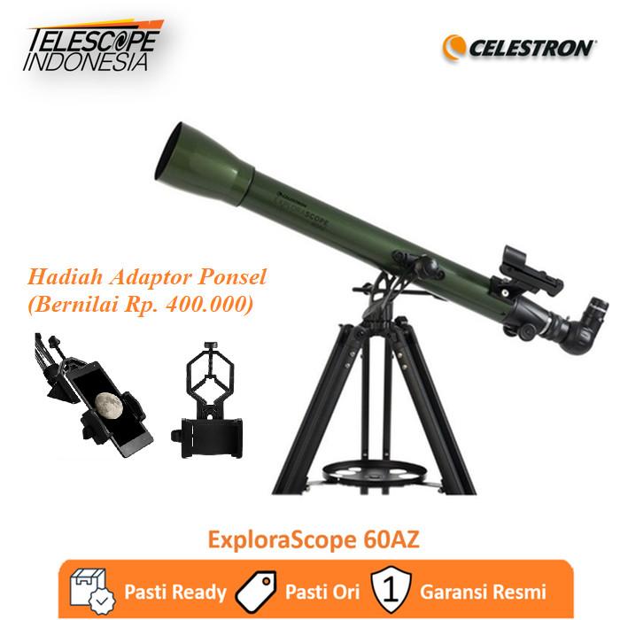 Foto Produk Celestron ExploraScope 60AZ Teleskop Refraktor dari TelescopeIndonesia