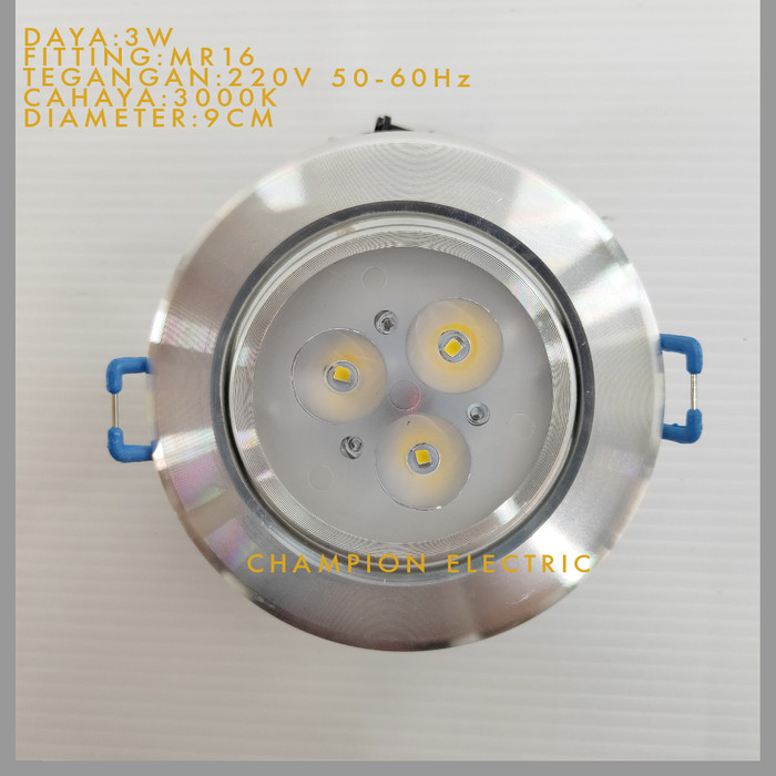 Foto Produk Downlight LED 3W 3watt 3 mata Good quality dari Champion Electric
