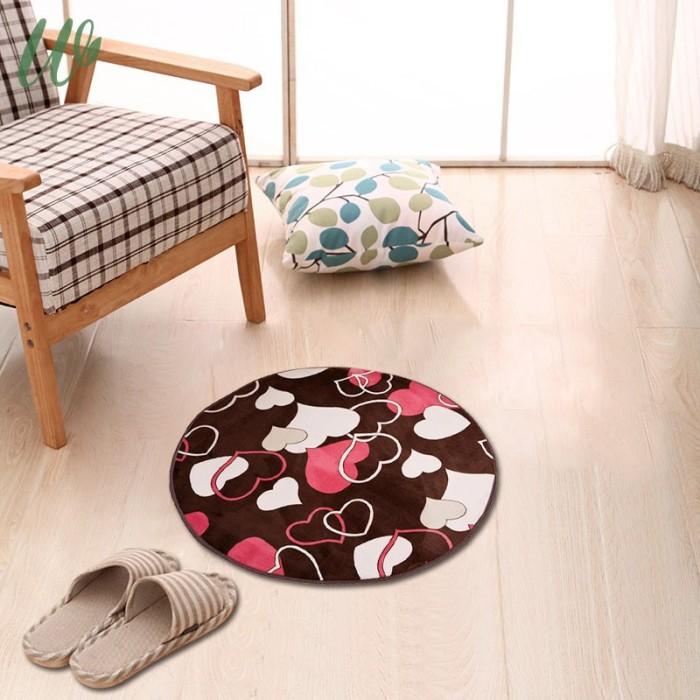 Jual 30cm Round Rug Velvet Doormat Soft, Carpet For Living Room