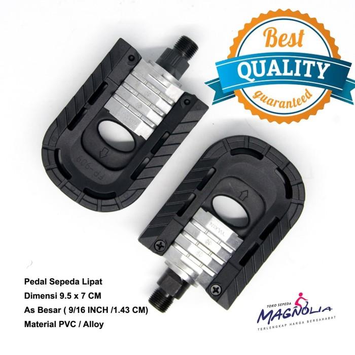 Foto Produk Pedal Sepeda United Lipat Material Steel / PVC - FOLDING dari Toko-Merah